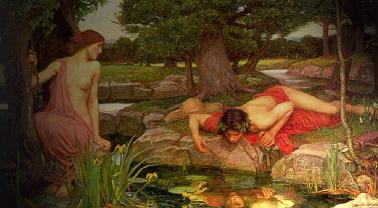 Narciso y Eco, de Waterhouse